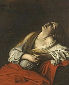 Mary Magdalen in Ecstacy by Caravggio