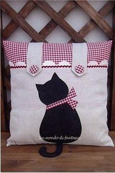 Шьем подушку с котиком