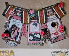 Graphic 45 Mon Amour Love Banner with Tutorial by Pam Bray Photo 1_3353