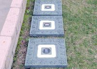 Homebrite Solar Powered Square Garden Green Stepping Stones