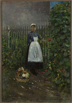 Muzeum Cyfrowe dMuseion - Dziewczyna z koszem jarzyn w ogrodzie