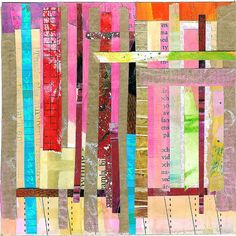 Striped Collage by iHanna of www.ihanna.nu #mixedmedia #abstract