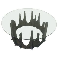 "Paul Evans Brutalist ""Stalagmite"" Coffee Table 