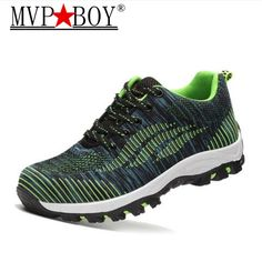 newest 46004 b343e MVP BOY Men Casual Safety Shoes Spring Mesh Lace Up Steel Toe Shoe Men s  Puncture Proof Labor Insurance Tenis Work Boots Mens