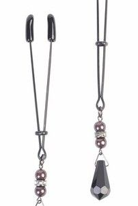 Tweezer Nipple Clamps with Pearl Black #nippleclamps #nipple #clamp