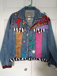 Kim Grant Vtg 1990 Hand Painted & Signed Womens Denim Jacket – Large #GAP #BasicJacket
