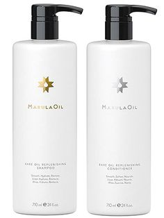 MarulaOil Rare Oil Replenishing Shampoo & Conditioner Both products are infused with marula oil, so they're intensely smoothing and moisturizing. But hydrating as they may be, the combo is surprisingly lightweight; our tester with fine hair used them and noted that her hair was shiny but not limp or greasy.