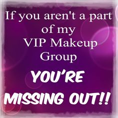 Do you love makeup? Well head on over to Facebook and join my special VIP Group www.facebook.com/groups/youniquelymichellek and see all of my personally offered specials and more! This is something you definitely don't want to miss out on! ‪‪#‎specials‬ ‪#‎promotions‬ #freebies ‪#‎joinmygroup‬ ‪#‎makeupaddict‬ ‪#‎makeupjunkie‬ #facebook #makeup #beauty #tips #naturallybased #younique