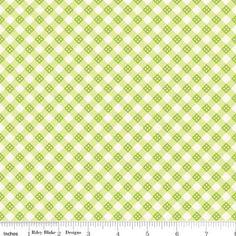 Fabric - Lori Whitlock - Hello Sunshine - Plaid in Green