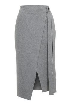 D-Ring Wrap Skirt - Skirts - Clothing - Topshop Mode Outfits, Dress Outfits, Fashion Outfits, Skirt Pants, Dress Skirt, Work Fashion, Fashion Looks, Dresscode, Frack