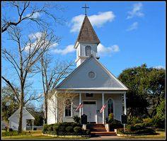 White Church in La Marque, Texas.