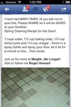 Tried this today and didn't realize how dirty the grout actually was! Word of caution...mix ingredients in a container big enough to allow the fizz when you mix everything together! Other than that it worked great!