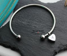 Personalized Cremation Urn Bangle Hand Stamped by TheSadBasset