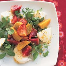 Beet and Watercress Salad with Fresh Mozzarella