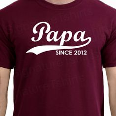 PAPA Since Personalized with Any Year Mens by signaturetshirts, $19.95