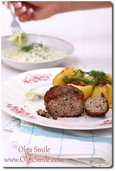 Kotlety mielone z koperkiem Baked Potato, Sprouts, Potatoes, Baking, Vegetables, Ethnic Recipes, Food, Potato, Bakken