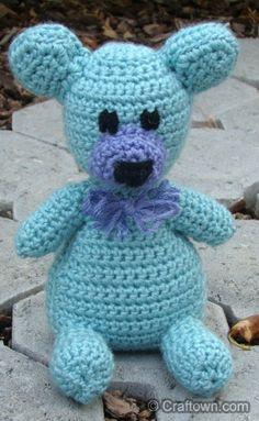 Free Crochet Pattern - Amigurumi Teddy Bear