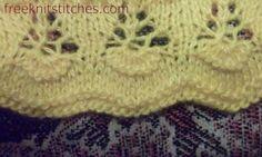 Flowers knitting stitches lace edge pattern