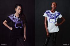 TEL-AVIV black and white t-shirts