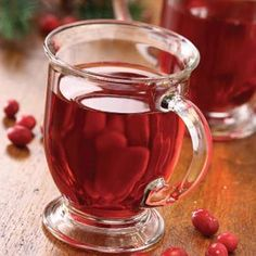 Homemade Cranberry Juice Recipe -This refreshing and sweet cranberry juice has a mild tartness level. Its jewel red color looks very attractive served in glassware. —Carol Domes, Whitehorse, Yukon