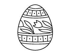 Dibujo De Huevo Pascua Con Tulipanes Para Colorear Easter PicturesMargaritaIdeas ParaColoring PagesMosaicEggsEaster