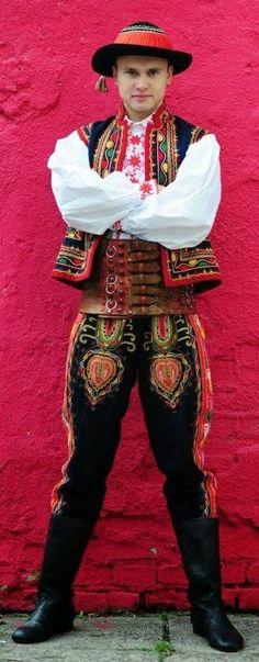 Lachy Sadeckie costume - Poland More Rare Clothing, Folk Clothing, We Are The World, People Around The World, Polish Folk Art, Costumes Around The World, Ethnic Dress, Folk Costume, Fashion Sewing