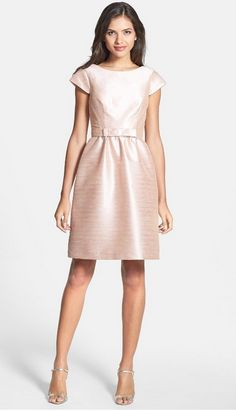 Woven Fit & Flare Dress ALFRED SUNG