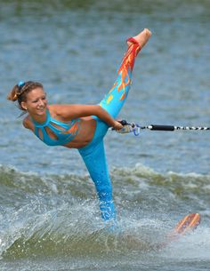 Gorgeous costume-water skiing