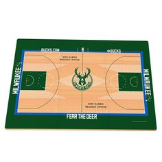Milwaukee Bucks Replica Basketball Court Foam Puzzle Floor, Multicolor