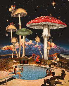 Collage Kunst, Surreal Collage, Surreal Art, Collage Art, Retro Futurism Art, Surealism Art, Psy Art, Funky Art, Retro Futuristic