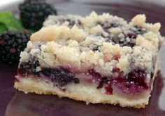 Sweet sugary buttery goodness in a pan This recipe is from Marsee Baking Company in Portland Oregon When we lived in that area we used to pick wild blackberries and I cou. Crunch Bars Recipe, Marionberry, Baking Company, Glass Baking Dish, Butter, Köstliche Desserts, Dessert Bars, Recipe Using, Cookie Recipes