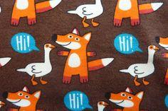 Stretch Sweat FuchsGans braun von PinkPeppa auf DaWanda.com