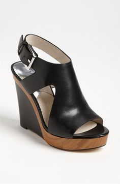MICHAEL Michael Kors 'Josephine' Wedge (Women)Item #614054 in Black or Tan available at #Nordstrom