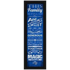 Orlando Magic Crackle Family Cheer Framed Art