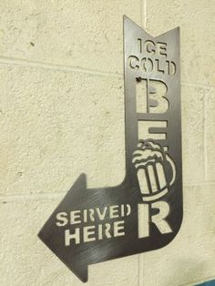 Bar Beer Sign Mugs Metal Wall Art