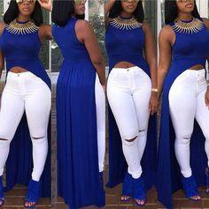 Scoop Sleeveless Irregular Long Hem Long Dress – Meet Yours Fashion African Fashion Designers, African Men Fashion, African Wear, African Fashion Dresses, Africa Fashion, African Style, Fashion Wear, Girl Fashion, Fashion Outfits
