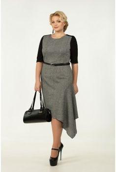 Повседневное платье большого размера. Модель 0733