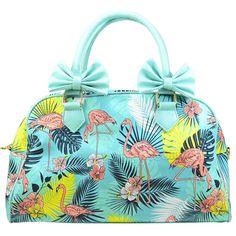 Banned Wanderlust Flamingo Handbag