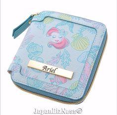 New Japan Disney Store Ariel from the Little Mermaid Folding Wallet #JapanDisneyStore