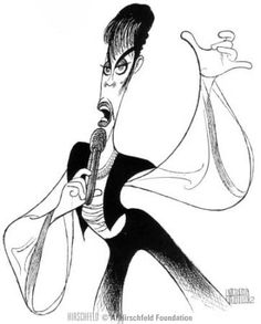 Al Hirschfeld ~ (The Artist Formerly Known As) Prince: Funny Caricatures, Celebrity Caricatures, Celebrity Drawings, Black And White Drawing, Black And White Portraits, Satire, Illustrations, Illustration Art, Caricature Artist
