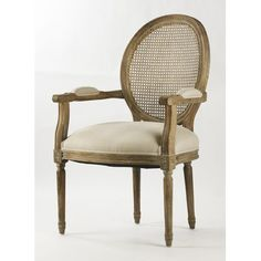 Zentique Inc. Medallion Cane Back Arm Chair