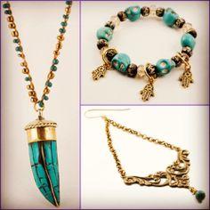 Love turquoise? So do we! #turquoise #boho #handmadejewelry