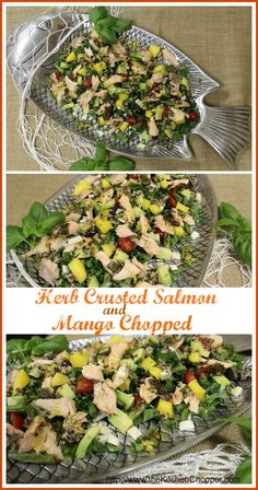 Herb Crusted Salmon and Mango Chopped The Kitchen Chopper