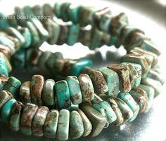 8 mm Beads Green Beads 8 mm Gemstone Beads 20 pc. by FreshBeadsCo, $2.65