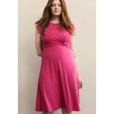 Boob design twist maternity & nursing dress (sweet fuchsia) by boob design Maternity Nursing Dress, Maternity Dresses, Postpartum Belly Band, Baby Shower Dresses, Nursing Clothes, Stylish Maternity, Sweet Dress, Dress Collection, Outfit