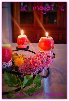 magalì: centrotavola Pasqua  -candeluova profumate - segnaposto