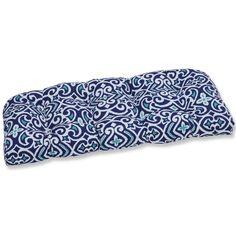Charlton Home Bench Cushion & Reviews | Wayfair Rocking Chair Cushions, Dining Chair Cushions, Seat Cushions, Outdoor Loveseat, Outdoor Cushions, Buy Pillows, Tiny Flowers, Perfect Pillow, Damask