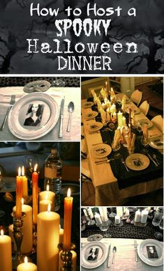 Like the dinner plate idea with the picture underneath....can do this with any holiday or occasion....Source: ciao! newport beach: my halloween dinner party preview