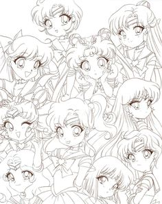 I really like her color combination xD Just have Sailor Jupiter left to do Other Sailor Moon Chibis: Sailor Mars Chibi Sailor Moon Sailor Stars, Sailor Chibi Moon, Arte Sailor Moon, Sailor Moon Fan Art, Sailor Uranus, Sailor Moon Coloring Pages, Cool Coloring Pages, Adult Coloring Pages, Coloring Books