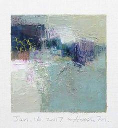 "Jan. 16, 2017 9 cm x 9 cm (app. 4"" x 4"") oil on canvas  © 2017 Hiroshi Matsumoto"